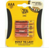 Pack of 4 JCB AAA batteries (Code 4024)